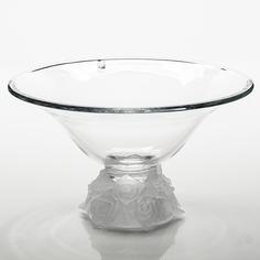 Ваза для фруктов Crystalite Bohemia Роза Фрост 35,5 см