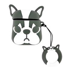 Чехол для наушников LADY PINK cиликоновый Серый кот