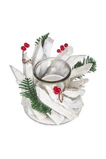 """Подсвечник """"Кантри белый"""" DUE ESSE CHRISTMAS"""