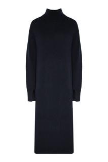 Синее трикотажное платье Max Mara