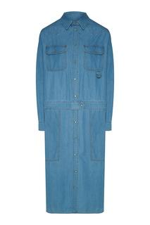 Голубое джинсовое платье Max Mara