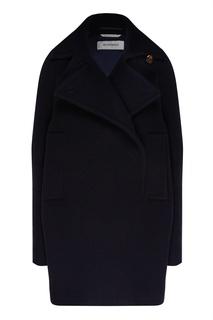 Черное пальто прямого кроя Max Mara