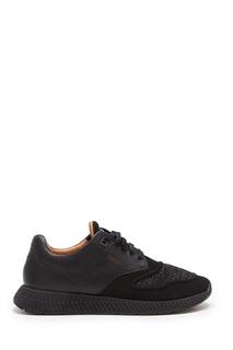 Комбинированные черные кроссовки Boss