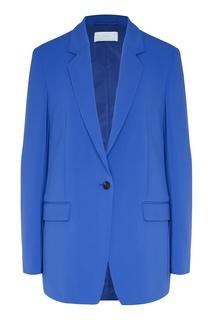 Синий однобортный пиджак Boss