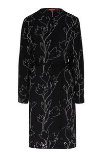 Черное платье с цветочным принтом Max Mara