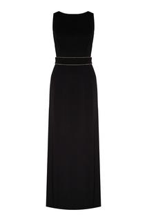 Черное макси-платье с глубоким вырезом Max Mara