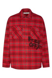 Красная рубашка в клетку Off White