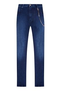 Синие джинсы из хлопка Emporio Armani