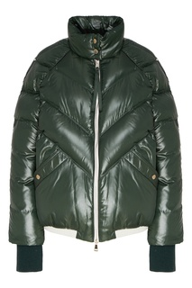 Зеленая куртка-пуховик Yalou Moncler 1952 x Valextra