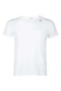 Белая футболка с маленьким рисунком Saint Laurent