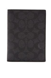 Обложка на паспорт серого цвета Coach