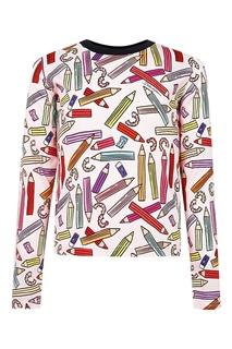 Белый джемпер с цветным узором Dolce&Gabbana Children