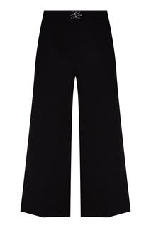 Черные кюлоты с логотипом Karl Lagerfeld