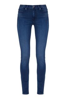 Синие джинсы с потертостями Calvin Klein