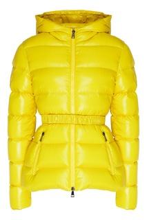 Желтая куртка-пуховик Rhin Moncler