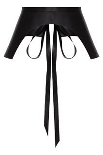 Кожаный пояс черного цвета Izeta