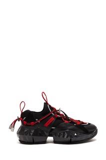 Красно-черные кроссовки Diamond Trail Jimmy Choo