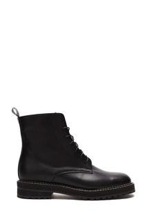 Высокие ботинки с контрастной отстрочкой Vanlim