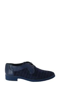Темно-синие туфли из кожи и замши Roberto Rossi