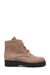 Бежевые ботинки из нубука Vanlim