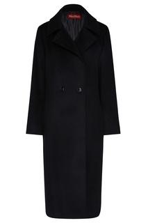 Черное двубортное пальто Max Mara