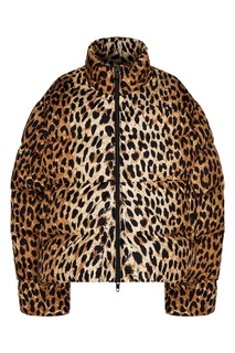 Куртка-пуховик с леопардовым принтом Balenciaga