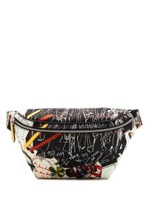 Разноцветная сумка на пояс Karl Kollage Fendi