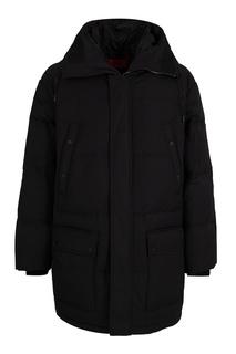 Черная куртка с капюшоном Hugo Boss