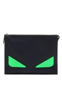Клатч с зелеными глазами Bag Bugs Fendi