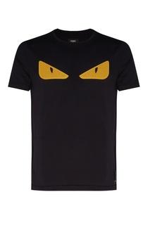 Черная футболка с глазами Bag Bugs Fendi