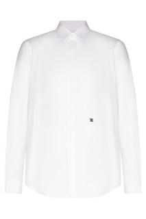 Белая рубашка из шелка Fendi