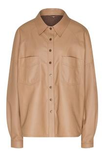 Кожаная рубашка с кашемировой подкладкой Yana Dress