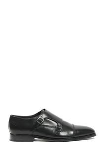 Черные кожаные монки Paul Smith