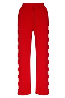 Красные брюки спортивного стиля Msgm