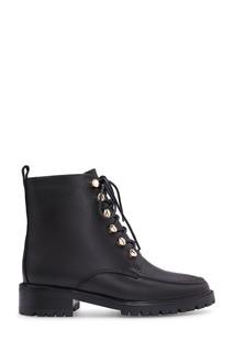 Черные ботинки с золотистой фурнитурой Portal