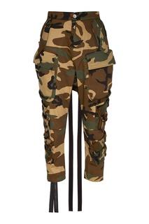 Камуфляжные брюки-карго Unravel Project