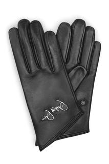 Кожаные перчатки с логотипом Philipp Plein