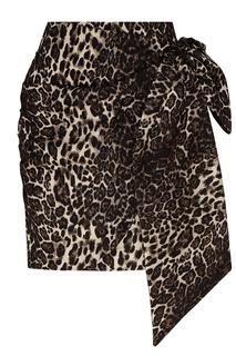 Юбка мини с леопардовым принтом Essentiel Antwerp