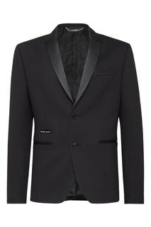 Черный пиджак с логотипом Philipp Plein