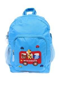 Голубой рюкзак с нашивкой Miki House
