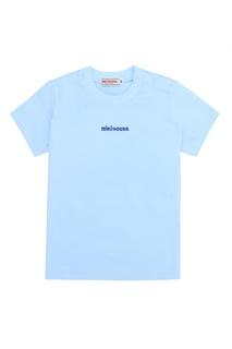 Голубая футболка с логотипом Miki House