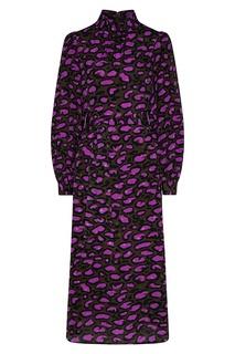 Платье цвета хаки с леопардовым принтом Essentiel Antwerp