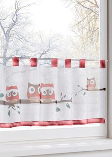 Короткие шторы Кухонная штора Зимняя сова Bonprix