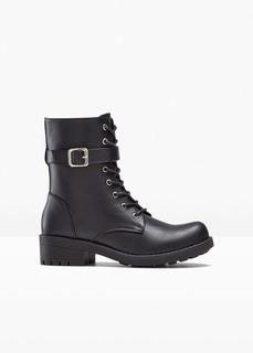 Ботинки байкерские на шнуровке Bonprix