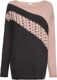 Пуловеры Пуловер оверсайз с аппликацией Bonprix
