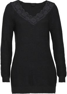 Пуловеры Пуловер с кружевной отделкой Bonprix