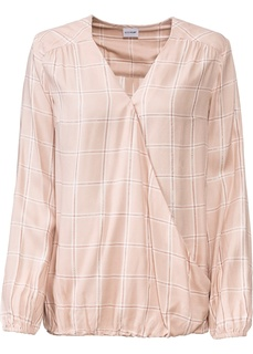 Блузки с длинным рукавом Блузка в клетку Bonprix