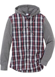 Рубашки с длинным рукавом Блузка Regular Fit с длинным рукавом и трикотажными рукавами Bonprix