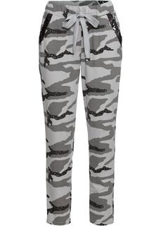 Повседневные брюки Брюки с блестками, трикотажный материал Bonprix