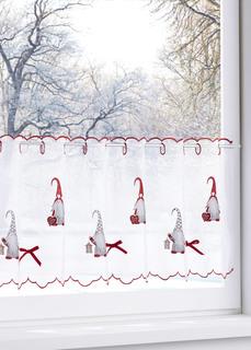 Короткие шторы Кухонная занавеска Новогодние гномы Bonprix